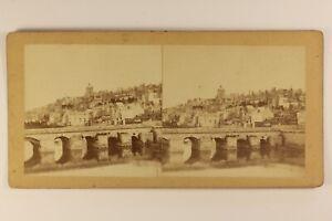Francia-O-Italia-Ville-A-Identificare-c1865-Foto-Stereo-Vintage-Albumina
