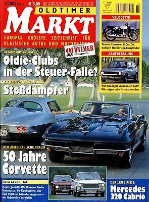 Oldtimer Markt 2003 3/03 Giulia 1300 Ti Fiat 1500 Beta Hpe Puch Monza Jet Cobra Modische Muster Zeitschriften