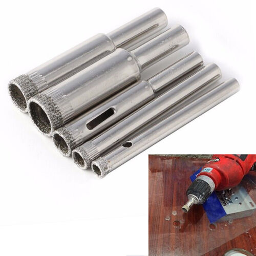 5pcs Diamond Hole Saw Drill Bits Set for Tile Ceramic Cutter Glass Marble 5-12mm