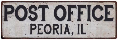 Peoria IL Correios sinal metal personalizado Vintage 106180011231