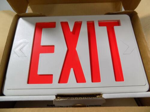BEST LIGHTING LED EMERGENCY EXIT LIGHTING FIXTURE A.C ONLY RED LETTERING NIB