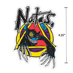 Santa-Cruz-Natas-Kaupas-Evil-Cat-Skateboard-Sticker-4-034-Old-School-Jim-Phillips