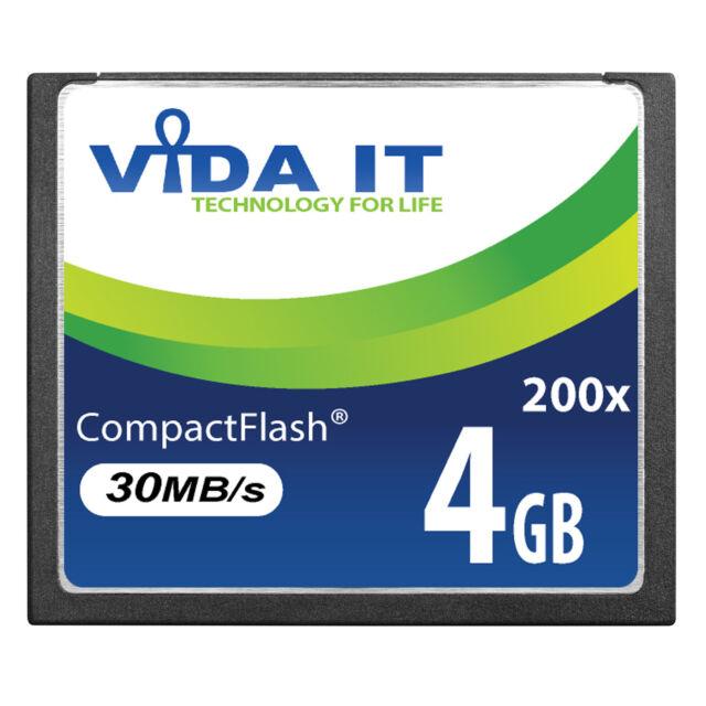 VIDA 4GB Compact Flash CF Memory Card High Speed 30MB/s For SLR Digital Camera