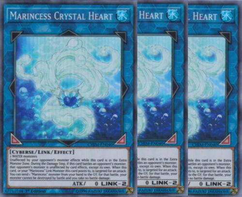 Yugioh Marincess Crystal Heart X3 Super CHIM 1st Ed Near Mint Playset