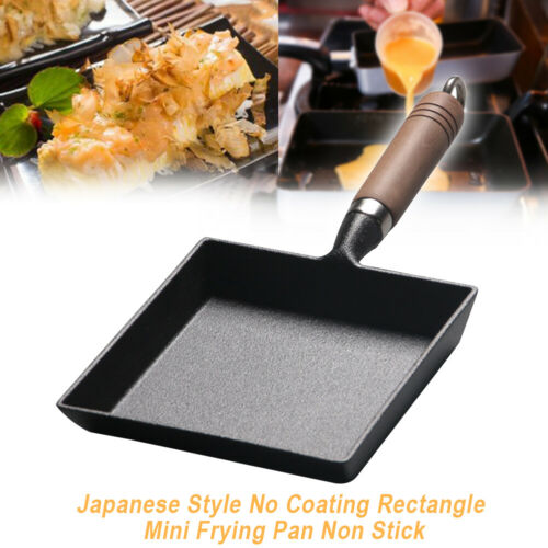 Japanese Style No Coating Rectangle Mini Frying Pan Non stick tamagoyaki egg UK