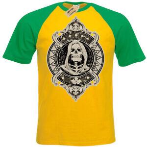 Skeleton-T-Shirt-skull-hooded-cowl-Short-Sleeve-Baseball