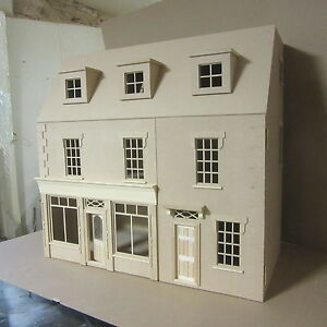 The-Belmont-House-with-large-Shop-12th-scale-Dolls-House-Kit-By-DHD