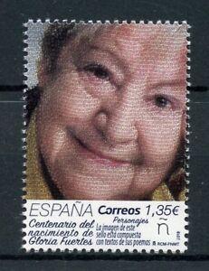 Espagne-2018-neuf-sans-charniere-Gloria-Fuertes-centenaire-de-la-naissance-1-V-Set-ecrivains-poetes