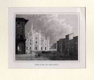 Mailand-Milano-Italien-Italia-Italy Stahlstich 1840