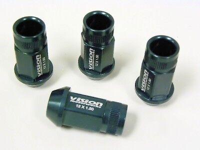 Set 20 12x1.5 Black Acorn Tuner Lug Nuts Scion tC iQ xB iM Mazda MX-5 Miata