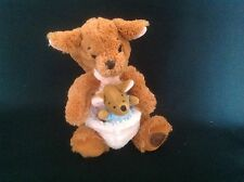 "DISNEY STORE KANGA AND ROO  10"" SOFT PLUSH COMFORTER TOY EXCELLENT CONDITION"