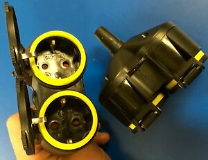 5x 2-fach Schuko Verteiler 1*Kupplung an 2*Schutzkontakt GUMMI Adapter QQ