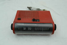 Vintage Toshiba Red Flip Clock RC-691F Clock Radio