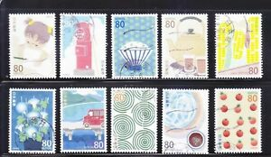 JAPAN-2013-LETTER-WRITING-DAY-80-YEN-COMP-SET-OF-10-STAMPS-FINE-USED-CONDITION