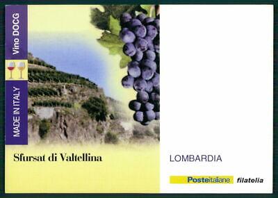"Italien Werbekarte ""made In Italy"" Weinanbau Wein Wine Trauben Lombardia Ed49"