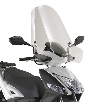 441a Givi Parabrezza Trasparente + Attacchi Per Kymco Agility 125 R16+ 2018 Essere Romanzo Nel Design