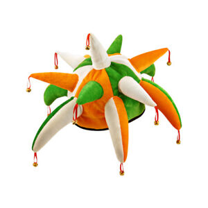 Spiked-Irish-Jester-Hat-St-Patrick-039-s-Day-Party-Fancy-Dress-Costume-Accessory