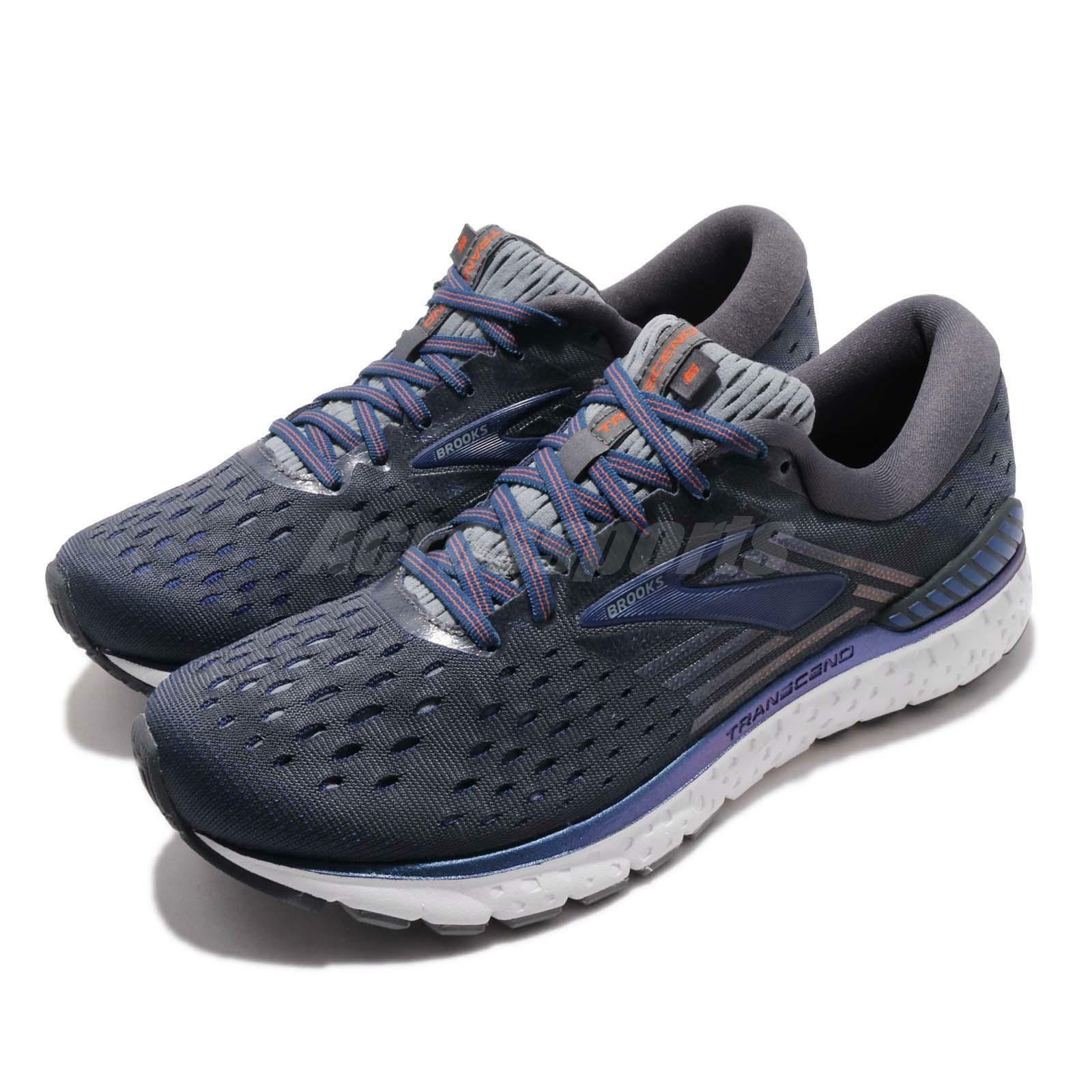 Brooks Transcend 6 Ebony bluee Mandarin  Men Running shoes Sneakers 110299 1D  for sale