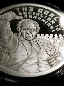 The Goal of Socialism USSA 2020 #1 Bernie Sanders 1 oz .999 Silver Shield Proof