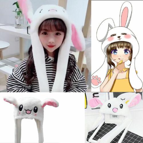 DouYin Cute Plush Rabbit Pinching Bunny Ear Hat Can Move Airbag Cap