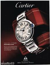 PUBLICITE ADVERTISING 095 2009  CARTIER   montre BALLON BLEU AUTOMATIC