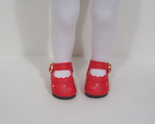 """RED Heart Doll Shoes For 13/"""" Sylvia Natterer Minouche Petitcollin Debs"""