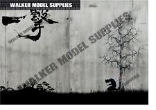 Garage Wand 1:24 Maßstab Lösen und Auftragen Aufkleber Modellauto 6 3xA4