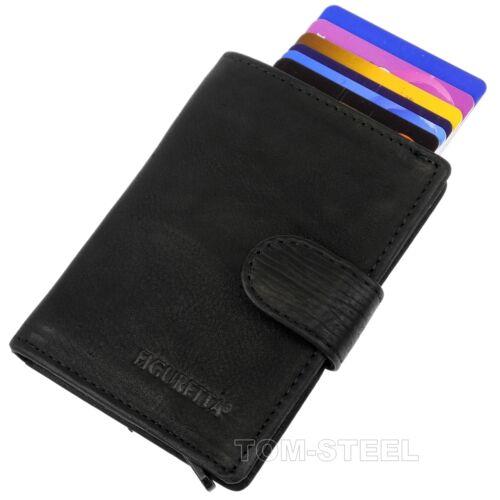 Figuretta Leather Aluminium Purse Credit Card Case Wallet Purse New