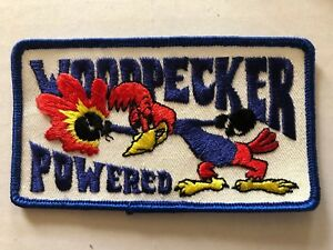 Vintage 1970s  Woodpecker Powered Racing HOT ROD rat fink automobilia  Patch