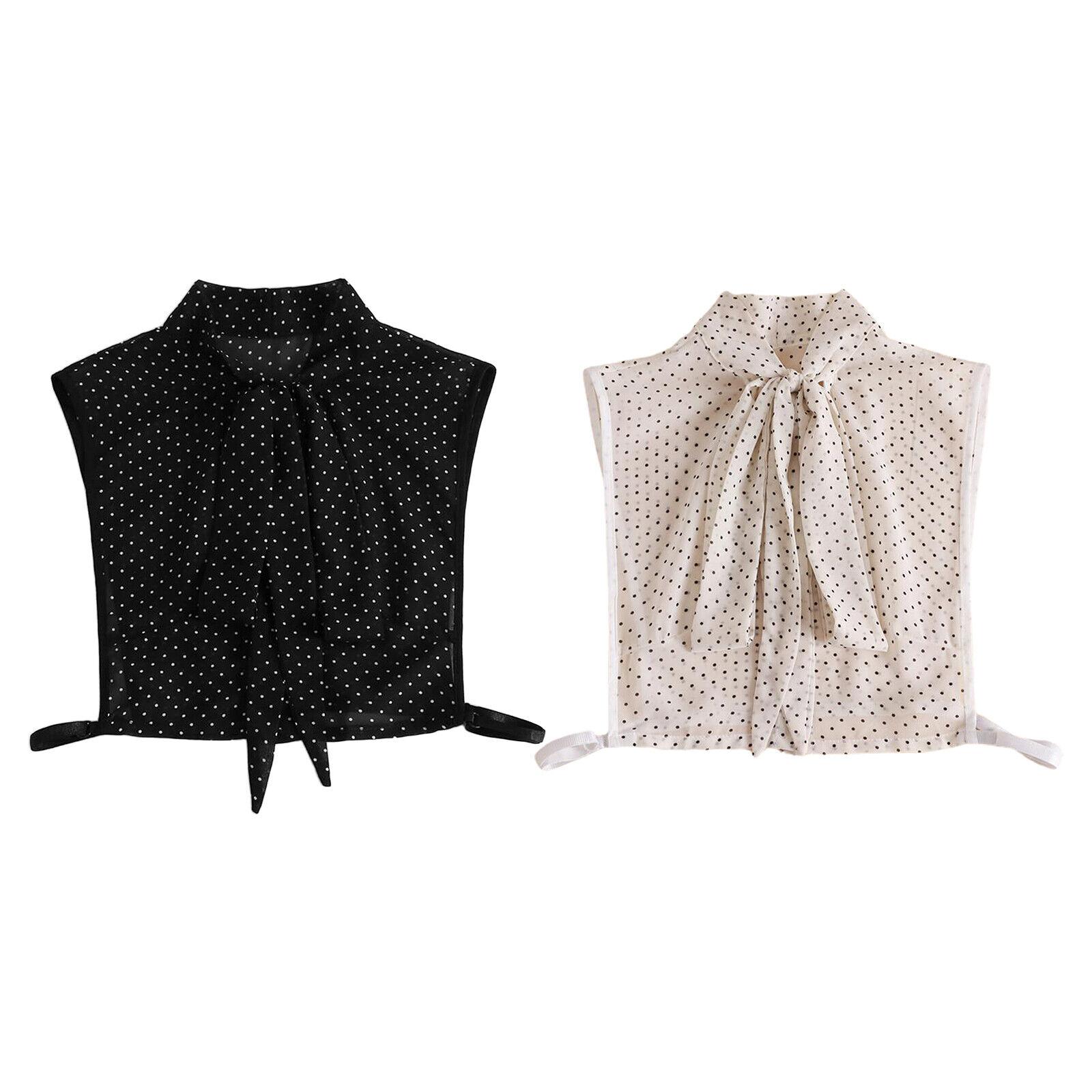 Faux Collar Bow Collar Chiffon Half Shirt Blouse Skirt Fashion Detachable Collar