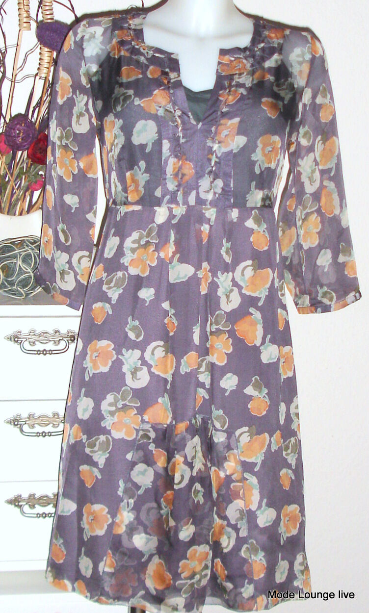 Noa NOA abito seta viola SWIFT SILK Spirit Taglia 36 S NUOVO dress kjole