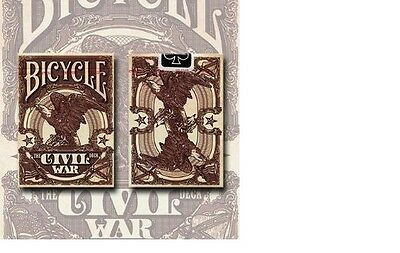 1 Deck RED The Civil War Bicycle Playing Cards Lincoln Grant Lee Davis Sherman