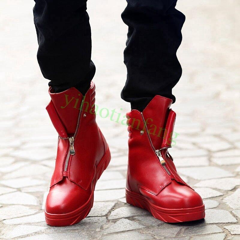 Uomo Uomo Uomo scarpe Ankle Dance Trendy Rivet Combat Strappy Outdoor Ankle 2099bc