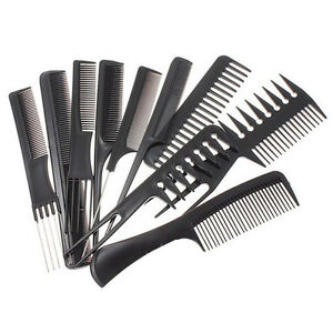 Hair Styling Combs 610Pcs Black Pro Salon Hair Styling Hairdressing Plastic Barbers .