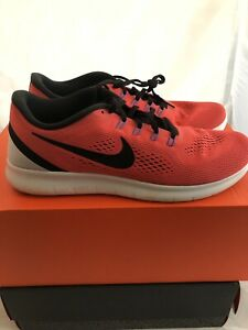 f4325b839f7f Nike FREE RN Running Training Gym Shoes Sneakers Red White Black ...