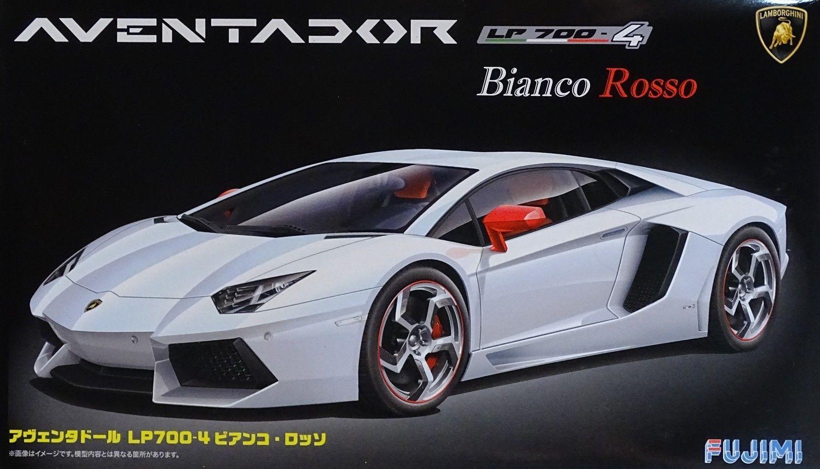 FUJIMI LAMBORGHINI AVENTADOR LP700-4 BIANCO BIANCO BIANCO ROSSO Scala 1/24 Cod.12564 2e0a59