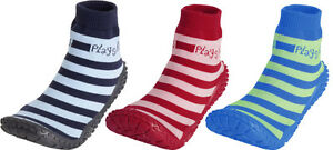 Playshoes Hausschuh Badeschuh Aqua-Socke Streifen Gr 18/19-30/31