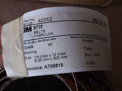 "Run ON2 3M 977F Belts 1//4/""x12/"" Grade 40 50 belts 51125 42052"
