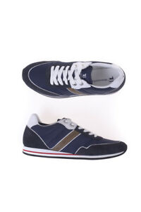 Trussardi 149 Scarpe Shoes Uomo Jeans Blu 77s524 Sneaker Pelle R5qwafvW7q