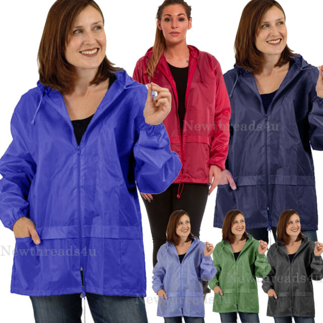 Raincoat Womens Ladies Lightweight Kagoul Rain Coat Jacket Mac Kagool Cagoule