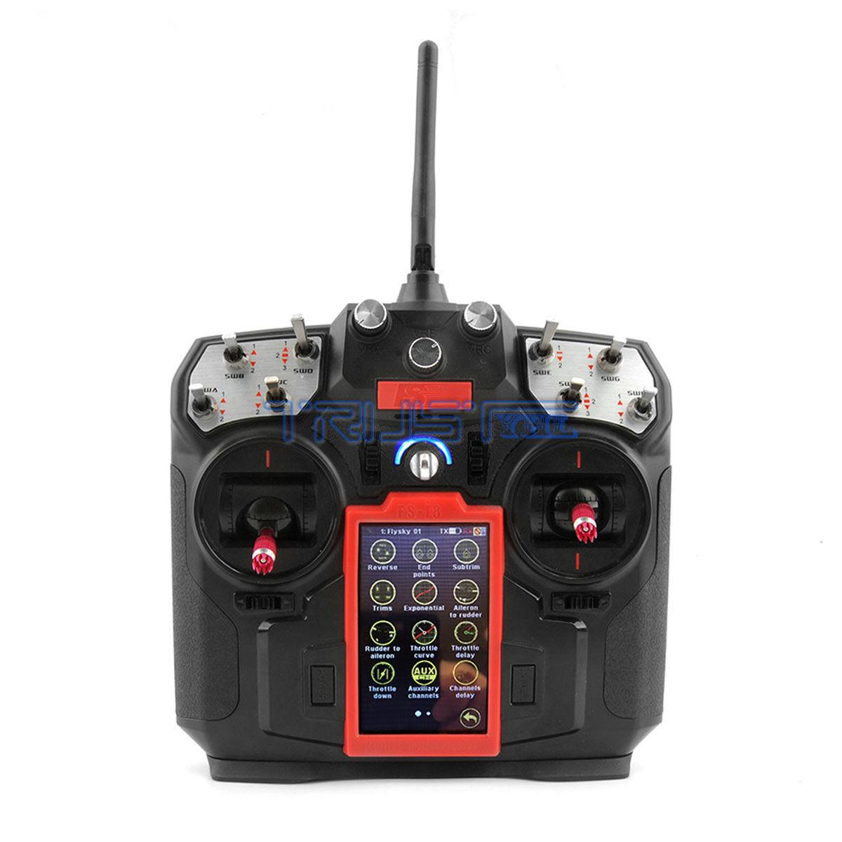 Flysky fs-i8 i8 8ch 2.4ghz AFHDS 2A LCD Transmitter with fs-ia6b Receiver.