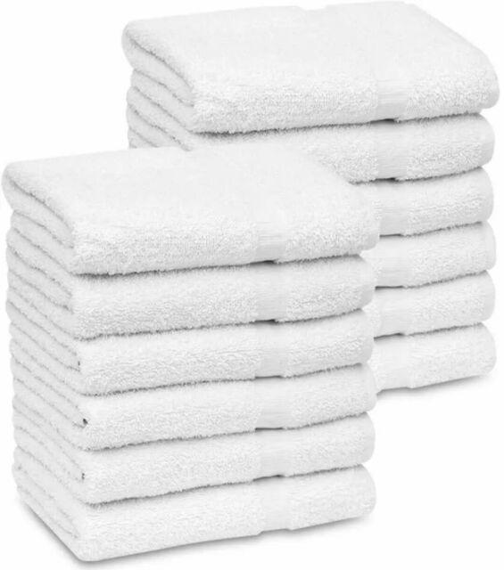12 Hotel Small Bath Towels 22x44 100 Cotton Unused Economy Grade Salon For Sale Online Ebay