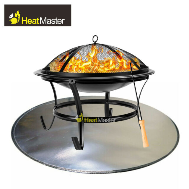 Fire Pit Pad Grill Mat Bbq Deck Protector Table Cover Chiminea Heat Shield Id36 For Sale Online Ebay