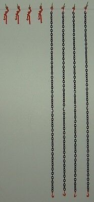 Evot - Crane & Truck Trailer Chains w/ Load Binders. D.O.T. Orange 1:50, 1:48