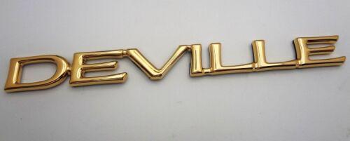 "Cadillac /""DEVILLE/"" Emblem! 24K GOLD PLATED! 2000 01 02 03 04 2005!!"