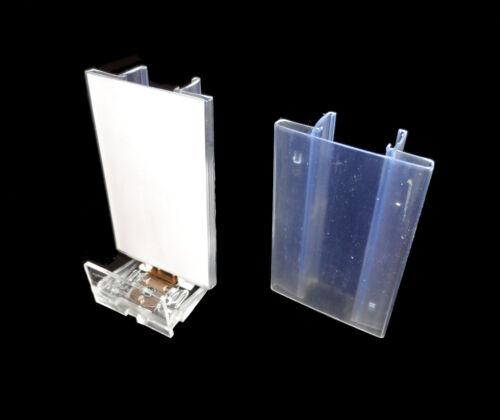 40x Labelhalter Aufsatzplatte pour Poussoir Système de Cisaillement Label