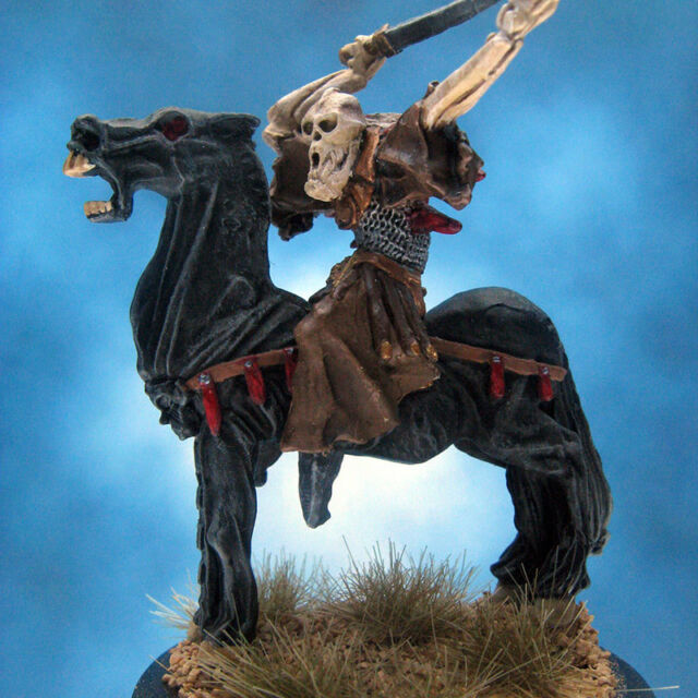 Painted RAFM Miniature Grim Reaper Mounted on Nightmare
