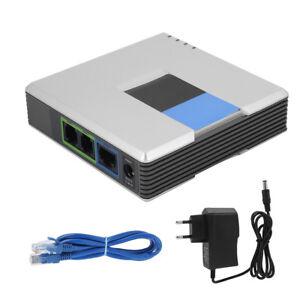 VoIP-Gateway-Internet-Telefon-2-Ports-Adapter-SIP-RJ45-Kabel-Unlocked-Gateway