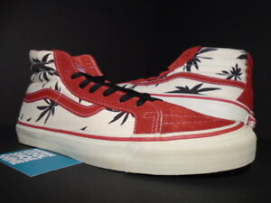 VANS OG SK8-HI LX VAN DOREN PALM LEAF SAMPLE RED WHITE BLACK WTAPS ... 467d1b257