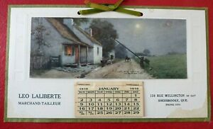 Small-original-Vintage-1916-WW1-Calendar-French-Canadian-Text-Complete